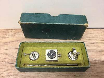Vintage Boxed Watchmakers Set Of 3 Tools Maybe For Rollers & Bushes