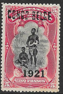 Belgian Congo stamps 1921 OBP 93B signed Williame MLH VF