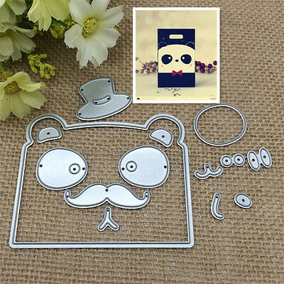 Cat Face Metal Cutting Dies Stencil Scrapbooking Paper Card Embossing Craft DIY