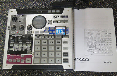 Roland SP-555 Dr. Sample Phrase SP555 Sampler sampling workstation w/ 512MB CARD