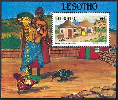 Lesotho 1993 Traditional Houses/Buildings/Architecture/Heritage 1v m/s (n16309)