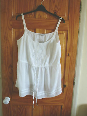 Lovely White Cotton Strappy Top from TU size 20 BNWT