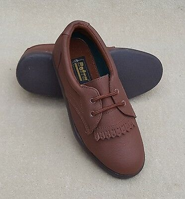 BOTRA Ladies Brown Hove Leather Lace Up Bowls Shoes UK 4 Ex Display Marks (81)