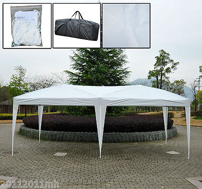 Outsunny 10 x 20 ft Gazebo pop-up Tent Wedding Canopy Garden Shelter Patio Party