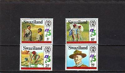 SWAZILAND - SG416-419 MNH 1982 75th ANNIV SCOUT MOVEMENT