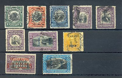 Panama-Canal Zone 10 Stamps */0 ---F/ Vf