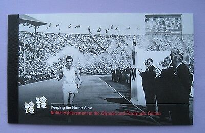 """2012 """"Keeping the Flame Alive"""" Olympics Prestige Stamp Booklet - DY5"""