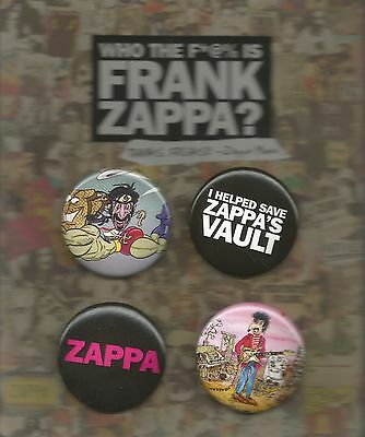 Who the F*@% Is Frank Zappa Button Set * by Frank Zappa (2017, Pin Back)