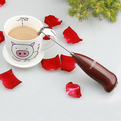 Handheld Drinks Milk Frother Foamer Whisk Mixer Stirrer Egg Beater Coffee HOT