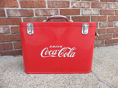 Vintage Coca-Cola Cavalier Junior Airline Cooler Ice Chest Near Mint!!!