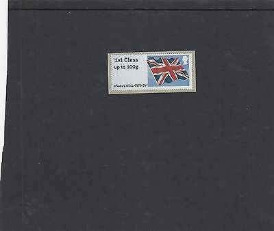 GB 2015  Post & Go Frama Union Flag EUROPHILEX 1st class single stamp m/c GG1