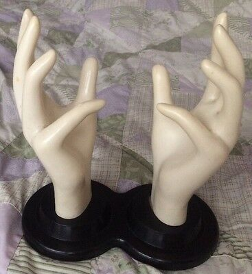 Vintage E & B GIFTWARE Display Double HAND MANNEQUIN Store Shop Retro