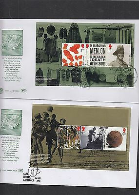 GB 2015 The Great War PSB Prestige Stamp Booklet set 4 full pane Stuart FDC