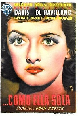 John Huston's IN THIS OUR LIFE 1948 Spain Mini Ad Poster Herald BETTE DAVIS