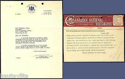 Scarce Vets Veterans Brewery Application Letters 1947-8 Vancouver BC B.C. LCB