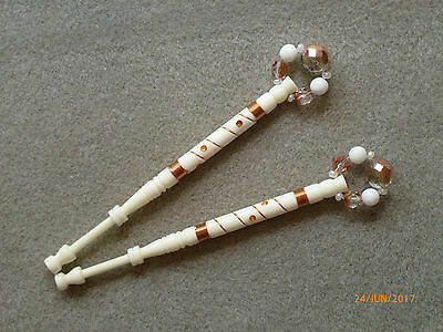 Lacemaking Lace Bobbins Pair Uk Bovine Bone