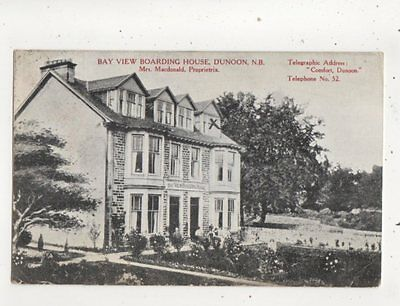 Bay View Boarding House Dunoon Argyll Scotland 1911 Postcard