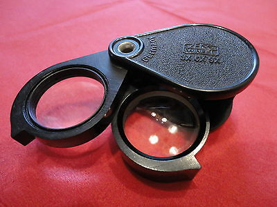 ZEISS WINKEL Germany 3x 6x 9x Einschlaglupe Lupe Loupe - TOP Zustand