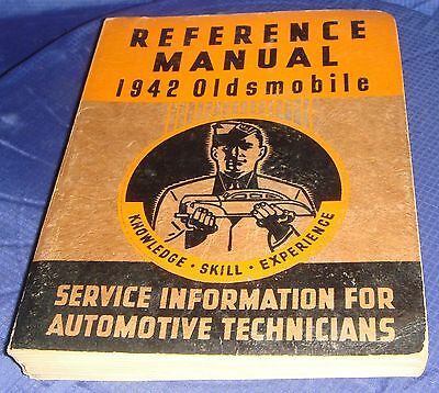 BR241 Reference Manual 1942 Oldsmobile Service Information For Automotive Techs