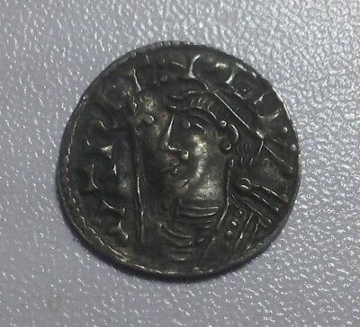 Nice Anglo Saxon, silver Hammered King Cnut coin, Short Cross type Penny      17