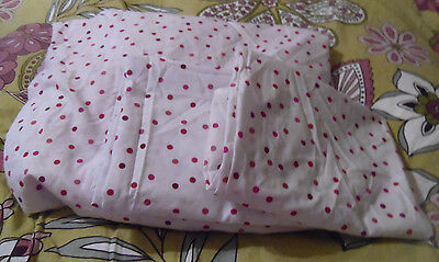Fab white/red polka dot print double fitted sheet +2 pillowcases USED by George