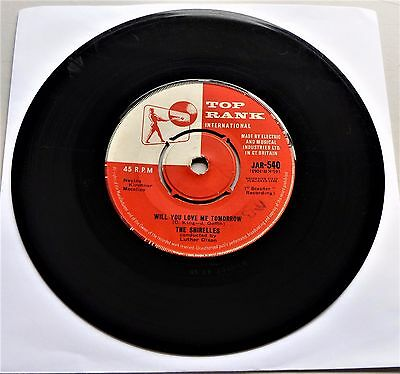 """*60s JUKEBOX* - THE SHIRELLES - WILL YOU LOVE ME TOMORROW - 7"""" single - PLAYS EX"""