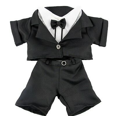 """Tuxedo Dinner Suit Wedding Groom outfit teddy clothes fits 15"""" Build a Bear"""