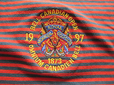 Golf 1997 Bell Canadian Open Nike Blue Orange Polo Shirt L Large XL X-Large