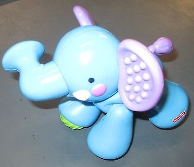 Fisher Price Brand Elephant For Sing and Go Train Mild Wear Blue