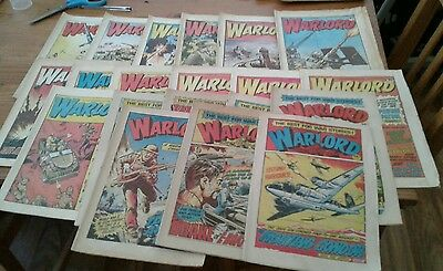 20 x British 'warlord Comics Magazine 1982,very good-fine condition