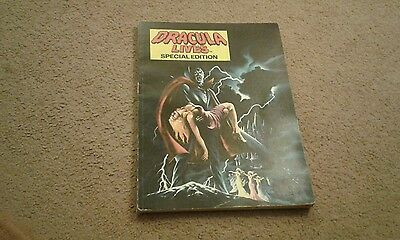 Dracula Lives Special Edition comic Early 1980s