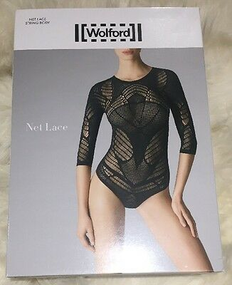 Wolford Net Lace String Body Black Small. BNWT. Boxed