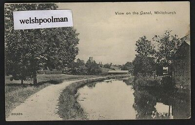 Antique 1906 View On The Canal Whitchurch Shropshire Postcard