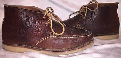 Mens Size 10.5 D RANCOURT & CO 23014 Chukka Boots Moc Toe Brown Leather Shoes