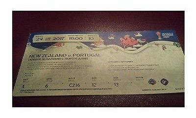 mint TICKET Confed Cup 24/6/2017 New Zealand vs Portugal # Match 10