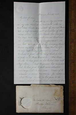 Antique 1862 Handwritten 8 Page Letter Brooklyn to Albany, N.Y. Well Written!