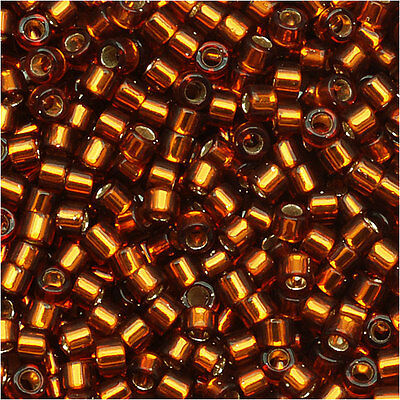 Miyuki Delica Seed Beads 11/0 Silver Lined Amber DB144 7.2 Grams
