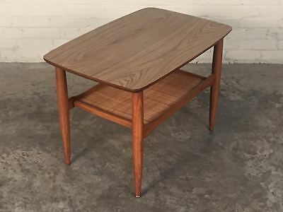 Mid-Century Modern End Table / Side Table / Nightstand ~  Eames Era Decor