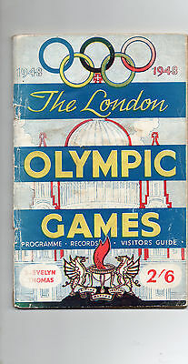 1948 London Olympic Games Programme with original receipt