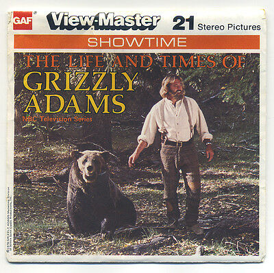 The Life and Times of Grizzly Adams 1978 GAF View-Master Packet J-10 Exc. Cond.