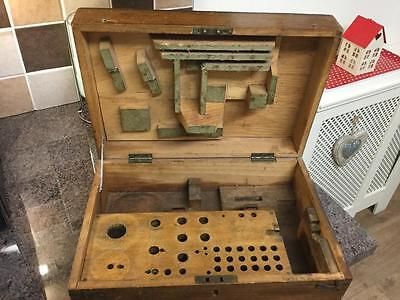 Vintage Geneva Pattern Watchmakers Lathe Box Only Holds Compound Slide