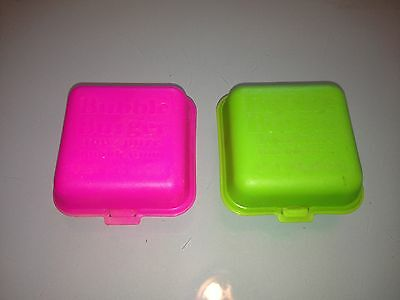 1970's Vintage 2 BUBBLE BURGER Bubble Gum CONTAINERS Rare USED Fleer EMPTY
