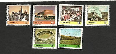 1990 Zimbabwe SC #600-05 SPORTS AGRICULTURE EDUCATION used stamps