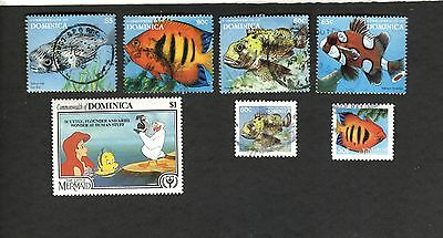 Commonwealth of Dominica SC #1352 MH SC #1884 #1887-89 #2032 #2034 used stamps