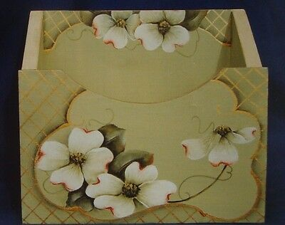 """Helen Stadter pretty vintage tole painting pattern packet """"Dogwood"""""""