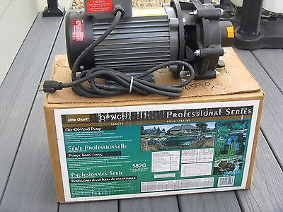 NIB LITTLE GIANT OPWG-97 Professional Series - 5280 g/hr OUT OF POND PUMP 566024