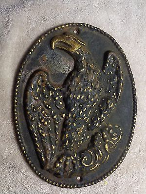 Very Old Cast Iron Eagle Fire Mark / Insurance Plaque
