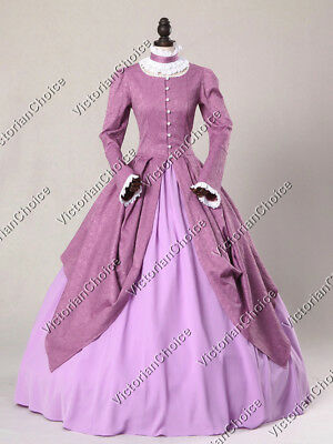 Victorian Royal Game of Thrones Queen Dress Gown Halloween Theater Costume 156