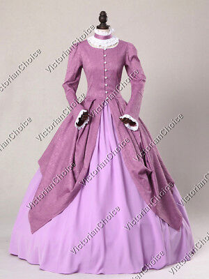 Victorian Royal Queen Period Dress Ball Gown Reenactment Theater Clothing 156
