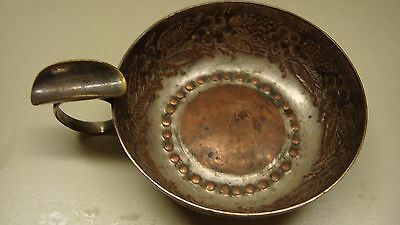 Silver on Copper Art Deco Ashtray  Made in England Crafton